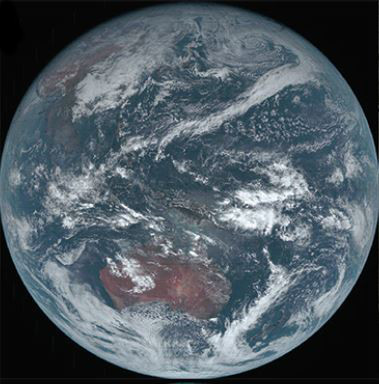 Real-Color images of the earth from the satellite Himawari (JMA)