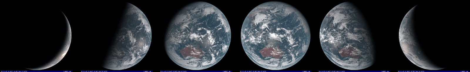 ⇒ Real-Color images of the earth from the satellite Himawari (JMA)